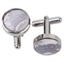 Manschettknappar-silver, passionmönstrade