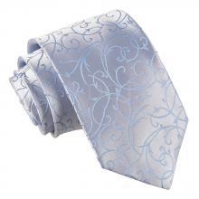 Vaaleansininen pyörrekuvioitu solmio