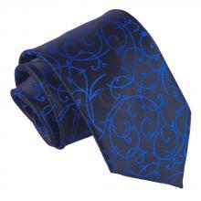 Musta-sininen, pyörrekuvioitu solmio