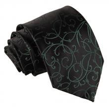 Musta-vihreä, pyörrekuvioitu solmio