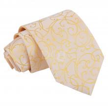 Guldfärgad, virvelmönstrad slips