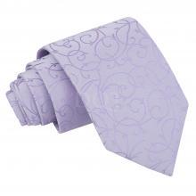 Lila, pyörrekuvioitu solmio