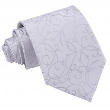 Silver, virvelmönstrad slips