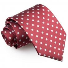 Burgundy polka dot slips