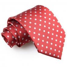 Mörkröd polka dot slips