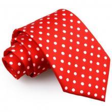 Röd polka dot slips