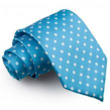 Ljusblå polka dot slips