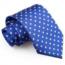 Blå polka dot slips