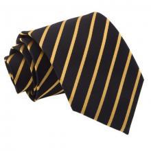 Musta-kulta raidallinen solmio