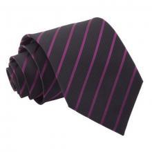Musta-tummanlila raidallinen solmio