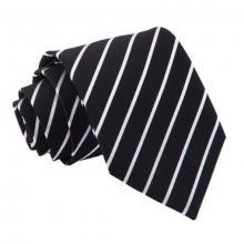 Svart-vit randig slips