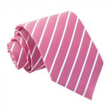 Hot pink-valkoinen raidallinen solmio