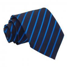 Marinblå-blå randig slips