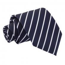 Mariininsininen-valkoinen raidallinen solmio