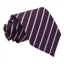 Lila-hopea raidallinen solmio