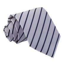 Hopea-mariininsininen raidallinen solmio