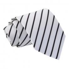 Valkoinen-musta raidallinen solmio