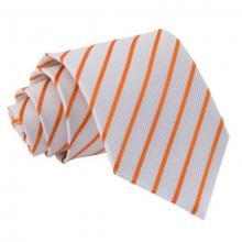Oranssi-valkoinen raidallinen solmio