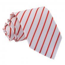 Puna-valkoinen raidallinen solmio