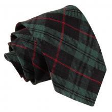 Tartan ruudullinen solmio_Musta, vihreä, punainen