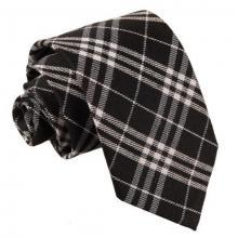 Tartan ruudullinen solmio_Musta-valkoinen