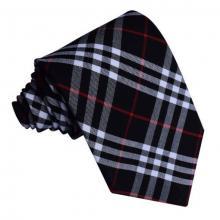 Tartan ruudullinen solmio_Musta-valkoinen, punainen