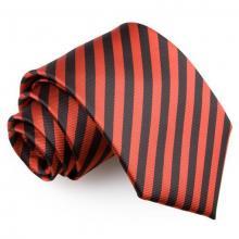 Musta-punainen raidallinen solmio
