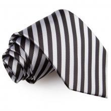 Musta-hopea raidallinen solmio