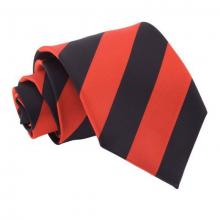 Svart-röd randig slips