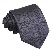 Kolsvart, paisleymönstrad slips