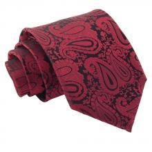 Viininpunainen, paisleykuvioitu solmio