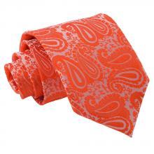 Oranssi, paisleykuvioitu solmio