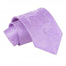 Lila, paisleymönstrad slips