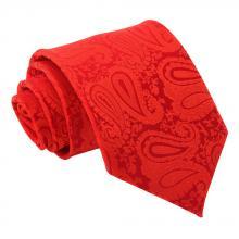 Röd, paisleymönstrad slips