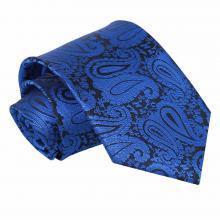 Sininen, paisleykuvioitu solmio