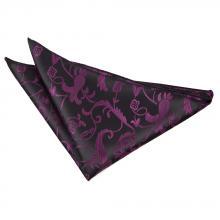 Näsduk-svart-mörklila, passionmönstrad