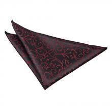 Taskuliina-musta-burgundy, pyörrekuvioinen