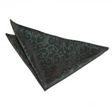 Taskuliina-musta-vihreä, pyörrekuvioinen